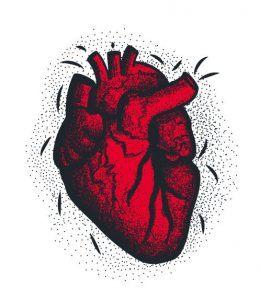 atak serca tło
