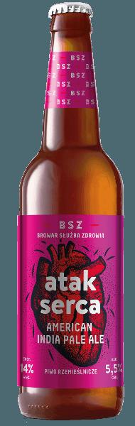 atak serca piwo