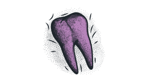 ból zęba tło